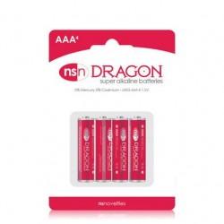 Dragon - Alkaine Batteries - AAA - 4 Pack