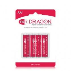 Dragon - Alkaine Batteries - AA - 4 Pack