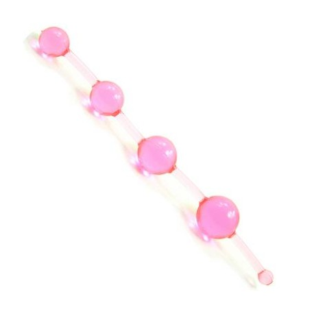 Jelly Thai Anal Beads - Pink
