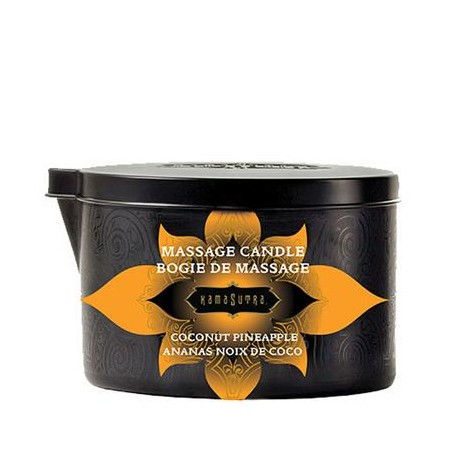 Massage Oil Candle - Coconut Pineapple - 6 Oz.