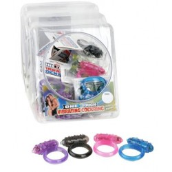 Mini One-Touch Cock Ring - Display of 24