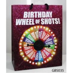 Birthday Wheel of Fortune Spinner Gift Bag