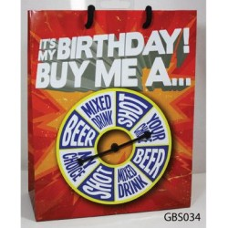 It is My Birthday Buy Me a Shot Spinner Gift Bag