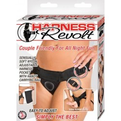 Harness The Revolt Velvet Strap-On - Black