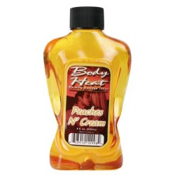 Body Heat Warming Massage Lotion Peaches N Cream - 8 oz.