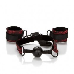Scandal Breathable Ball Gag with Cuffs