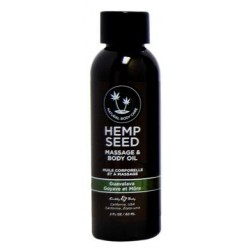 Guavalava Hemp Seed Massage Oil - 2 Oz.