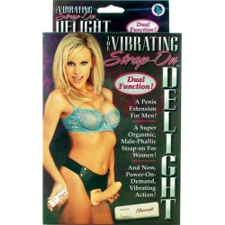 Strap-On Delight Flesh Vibrating