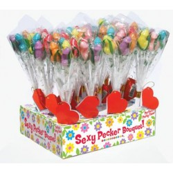 PENIS Fun Candy Bouquet- 12 Count with Display