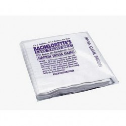 Bachelorette's Last Night Out Out Napkin Trivia Game - 25 Pack