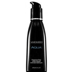 Wicked Aqua Fragrance Free Water-based Lubricant - 8.5 Fl. Oz. / 250 Ml