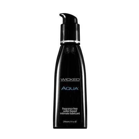 Wicked Aqua Fragrance Free Water-based Lubricant - 8.5 Fl. Oz. / 250 Ml