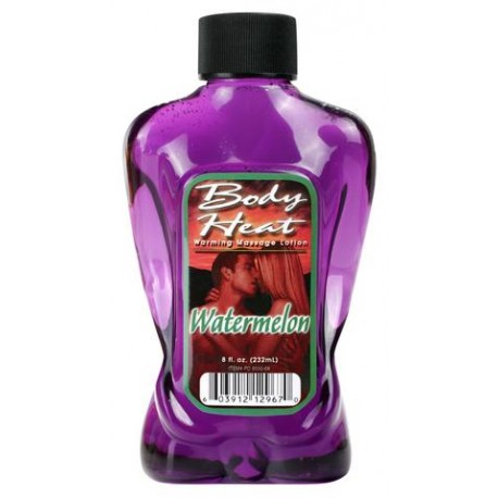 Body Heat Warming Massage Lotion Watermelon - 8 oz.