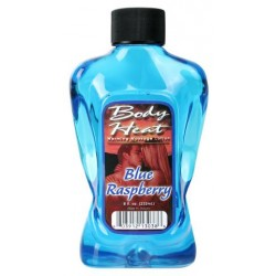 Body Heat Warming Massage Lotion Blue Raspberry -  8 oz.