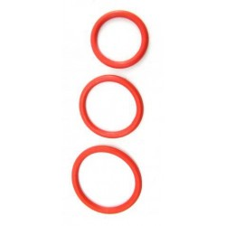 Nitrile Cock Ring Set Red