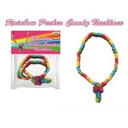 Rainbow Pecker Candy Necklace