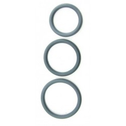 Nitrile Cock Ring Set Grey