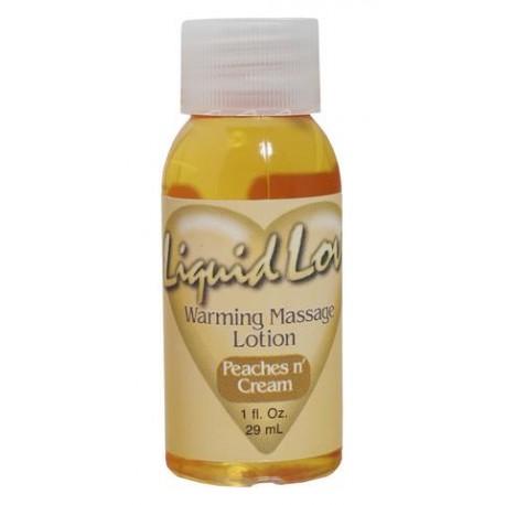 Liquid Love Warming Massage Liquid Peaches N Cream - 1 oz.
