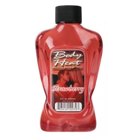 Body Heat Warming Massage Lotion Strawberry - 8 oz.