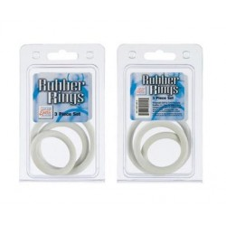 Rubber Rings 3 Piece Set - White
