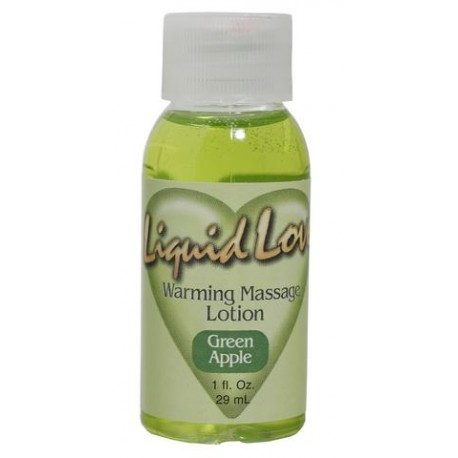 Liquid Love Warming Massage Lotion Green Apple - 1 oz.