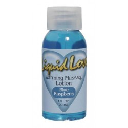 Liquid Love Warming Massage Lotion Blue Raspberry - 1 oz.