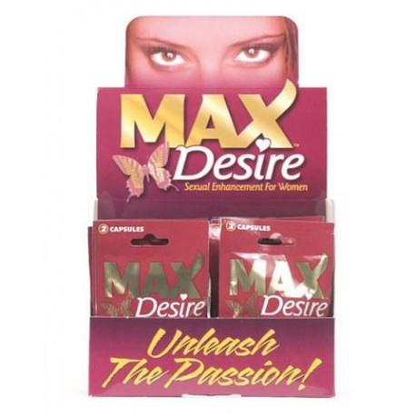 Max Desire 2 Pill Packs - 24 Piece Display  Women