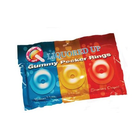 Liquored Up Gummy Pecker Rings