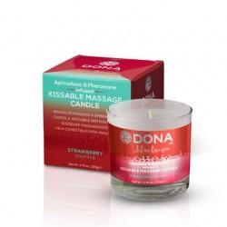 Dona Kissable Massage Candle  - Strawberry Souffle - 4.75 oz.