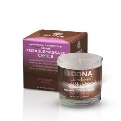 Dona Kissable Massage Candle  - Chocolate Mousse - 4.75 Oz.