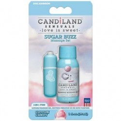 Candiland Sensuals - Sugar Buzz Massage Set - Cotton Candy