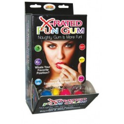 X-rated Fun Gum Assorted -  90 Pieces Display  - Htp750d