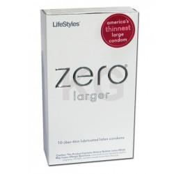 Lifestyles Zero Larger Lubricated Condoms - 10 Pack