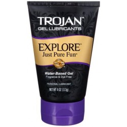 Trojan Explore Water-based Gel Lubricant - 4 Oz.