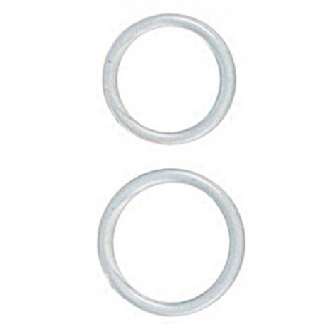 Silicone Rings Large/X-Large - Clear