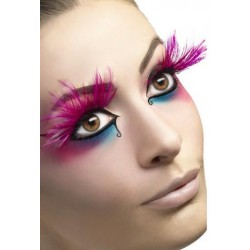 Feather Plume Eyelashes - Pink