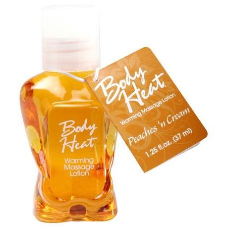 Body Heat Warming Massage Lotion Peaches N Cream - 1.25 oz.