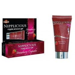 Nipplicious Nipple Arousal Gel - Strawberry Cupcake - 1 Fl. Oz. - Formerly Htp740e