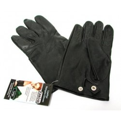 Leather Vampire Gloves With Prickly Metal Points - Large